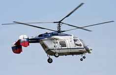 The Kamov Ka-226 manufactured by Kamov is a Russian light, twin-engine multi-role helicopter developed from Kamov Ka-126. The Kamov Ka-226 features an interchangeable mission pod, rather than a conventional cabin, allowing the use of various accommodation or equipment configurations. The Kamov Ka-226 is fitted with trademark Kamov coaxial rotors of advanced composite design, making the helicopter highly maneuverable and eliminating the need for a tail rotor.