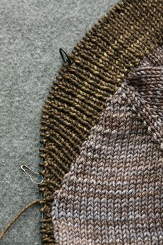 Short rows create the extra fabric needed for a fold-over shawl collar.