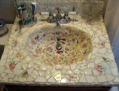 mosaic tile designs for sinks