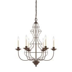 Buy the Quoizel Rustic Antique Bronze Direct. Shop for the Quoizel Rustic Antique Bronze Laila 6 Light Wide Candle Style Chandelier and save. Wire Chandelier, 5 Light Chandelier, Farmhouse Chandelier, Chandelier Ideas, Rustic Chandelier, Chandelier Shades, Quoizel Lighting, Deco Luminaire, Candelabra Bulbs