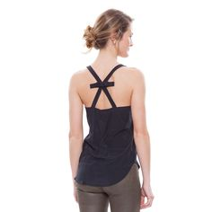 Black Bow Back Cami