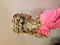 Prom hair half up