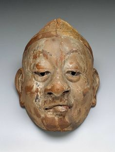 800 year old Heian era bugaku mask. Japan The Museum of Fine Arts, Boston