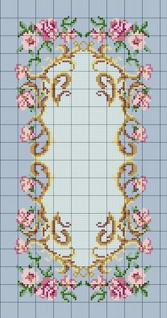 This Pin was discovered by Aya Cross Stitch Love, Cross Stitch Borders, Cross Stitch Flowers, Cross Stitch Designs, Cross Stitching, Cross Stitch Embroidery, Embroidery Patterns, Cross Stitch Patterns, Hobbies And Crafts