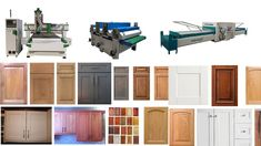 From this video, you can know a complete sets CNC machine for making cabinet door:  First, you need ATC CNC router machine for carving and cutting cabinet doors.   Second, you need CNC sanding machine for polishing the cabinet door to be smooth.  Third, you need the PVC vacuum membrane press machine to cover the cabinet door with PVC.