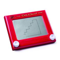 """Etch-A-Sketch is fun and easy to use. Use the knobs to draw left and right, up and down. Turn both knobs together for angles and curves. When you're done, turn over and shake to erase. Then, start the fun all over again One of the world's favourite drawing toys, wth over 150 million sold Plastic, coated glass, non-toxic aluminum powder 1.75"""" w. X 9.00"""" l. x 7.25"""" h. Ages 3+ yrs"""