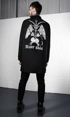 Never Kneel Mac #disturbiaclothing disturbia metal silver alien goth occult grunge alternative punk