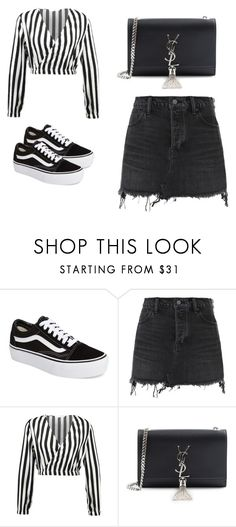 """Untitled #47"" by jessica-gomes-3 on Polyvore featuring Vans, Alexander Wang and Yves Saint Laurent"