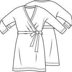 Jurk (Post-patroon)-792753 Jersey Knit Dress, Technical Drawing, Chef Jackets, Knitting, Dresses, Fashion, Vestidos, Moda, Tricot