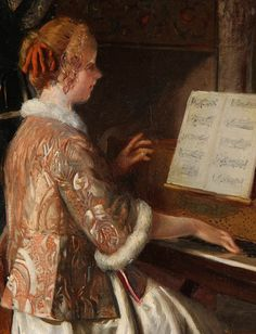 A Favorite Melody (detail), Bernard Louis Borione. French (1865 – 1920)