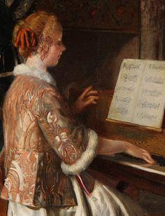 A Favorite Melody (detail), Bernard Louis Borione. French (1865 – 1920)