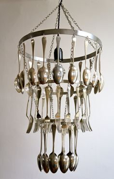 Hand-crafted Silver Plated Cutlery by BespokeChandeliers on Etsy