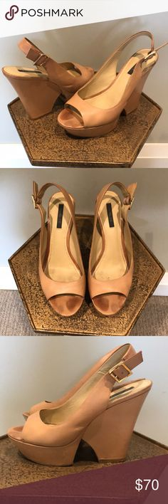 Rachel Zoe Finn Slingback Wedge Pumps Great for summer and fall - gently worn Rachel Zoe Shoes Sandals