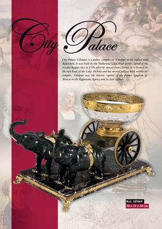 Desk Adornment City Palace with Crystal Bowl -The tradition of elegance, quality, craftsmanship and historical inspiration can still be seen in all the articles manufactured by CREDAN.