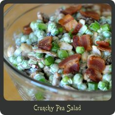 Crunchy Pea Salad—The perfect summer side salad! Light, cool, and refreshing