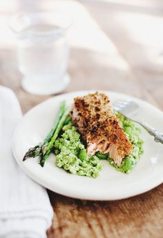Walnut Crusted Salmon with Edamame Mash - Sprouted Kitchen. Switch out ...