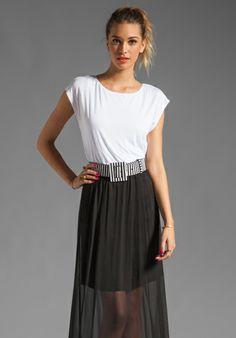 Alice   Olivia Kirean Dolman Dress with Belt in White/Black...love it!