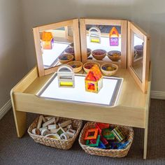 Baby Play Ideas at 4 Months – Little Lifelong Learners – Childcare Reggio Inspired Classrooms, Reggio Classroom, Toddler Classroom, Montessori Toddler, Montessori Activities, Preschool Classroom, Infant Activities, Activities For Kids, Montessori Bedroom