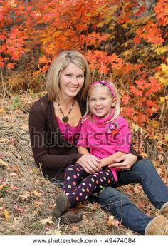 Image detail for -Attractive Blond Mother Holding Daughter Outdoor In Fall Stock Photo ...