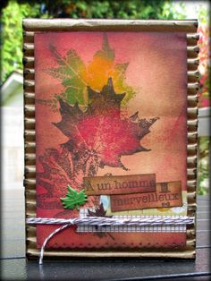 by Edith - DT Magenta fall autumn card stamping stamps