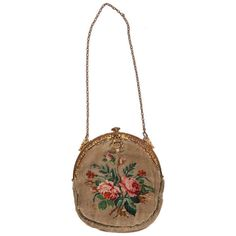 Pre-owned June Carter-Cash Victorian Silk Purse ($725) ❤ liked on Polyvore featuring bags, handbags, purses, fillers, handbags and purses, floral print handbags, 1920s purse, vintage purse, blue purse and floral purse