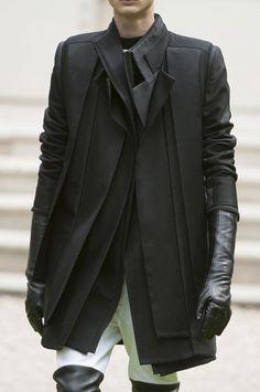 rad hourani... Black multi layer jacket