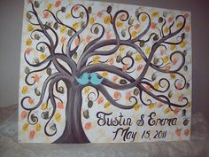 Instead of or in addition to a guestbook, you should do this awesome thumbprint tree...