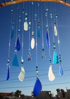 Beach Glass Wind Chime | Beach Glass wind chime | Garden Escape | Pinterest