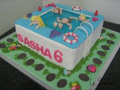 1000 Images About Pool Party Cakes On Pinterest Pool Party Cakes Swimming Pool Cakes And