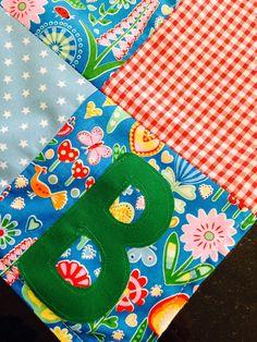 Custom Receiving Blanket Personalised baby by RobinsBobbinsCrafts