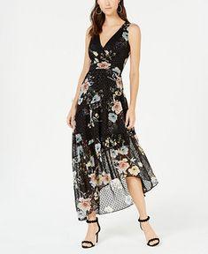 92dbe3384e6 I.n.c. Sleeveless Clip-Dot Maxi Dress