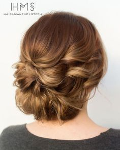 elegant updo wedding hairstyle; via Hair and Makeup by Steph