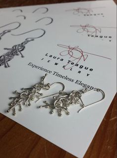 Long silver unique earrings by Laura Teague Jewelry Presents For Best Friends, Mothers Day Presents, Unique Earrings, Dangle Earrings, Sterling Silver Earrings, Silver Jewelry, 50 And Fabulous, Unique Gifts For Women, Holiday Fashion