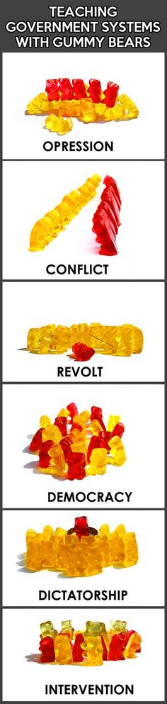 Understanding the government with gummy bears.