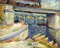 Vincent van Gogh   Le Pont à Asnières, 1887. Oil on canvas, 53.5 x 67 cm.