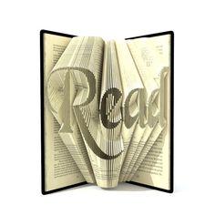 Book folding pattern - READ - 247 folds + Tutorial with Simple pattern - Heart - WO0401