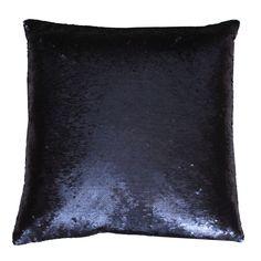 Sequin Mermaid Pillow in Navy | Dorm Room Decor | OCM.com