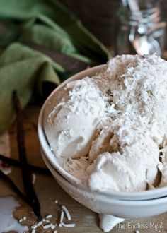 Dairy Free Creamy Coconut Ice Cream by The Endless Meal