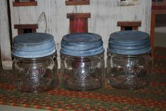 Antique Ball Mason Half Pint Canning Jars by AGlimpseFromthePast, $27.00