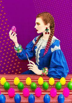 Vibrant Photos Pay Homage to Slavic Folklore through High-Fashion Portraits