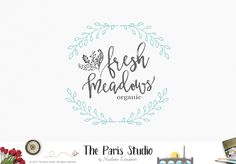 Leafy Wreath Logo Design Boutique Logo Restaurant Logo Website Logo design branding