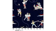 Out to Sea Fabric - Sarah Jane for Michael Miller - A Pirate's Life in Navy - Half Yard. Lots of fabric Pirate Quilt, Jane And Michael, Sea Pirates, Cotton Blossom, Michael Miller Fabric, Pirate Life, Navy Fabric, Out To Sea, Cotton Quilting Fabric