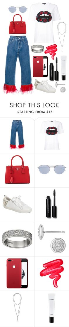 """""""the kind of love you can only dream of.."""" by theodor44444 ❤ liked on Polyvore featuring Dolce&Gabbana, Markus Lupfer, Prada, Mykita, Kennel & Schmenger, Bobbi Brown Cosmetics, Links of London, Lime Crime and MAC Cosmetics"""