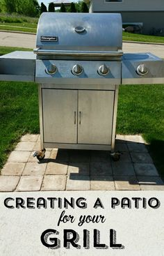 Creating A Paver Patio Just For Your Grill Patio Grill Backyard Patio Backyard Grilling Area