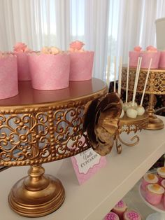 Blush gold and white -️sweet bar -bridal shower - Elegant Bridal Shower, Sweet Bar, Blush And Gold, Candy Buffet, Home Decor, Decoration Home, Room Decor, Interior Design, Home Interiors