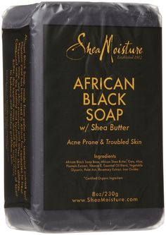 Love this stuff...has almost completely cleared the sub-dermal scarring caused  by misc. breakouts.  Shea Moisture African Black Soap with Shea Butter