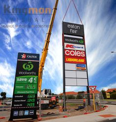 As Perth's premium signwriters, Kingman Visual specialises in crafting unique signage that stands out from the crowd. From design and manufacturing to Pylon Signage, Fuel Prices, Signages, Sign Writing, Signage Design, Business Signs, Plaza, Perth, Travel