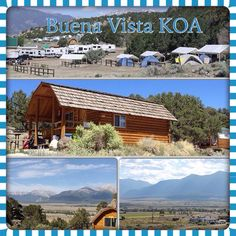 Buena Vista KOA has cabins to rent, amazing scenery and so much more!!