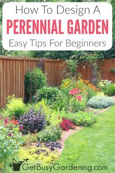 Perennials Made Easy! How To Create Amazing Gardens – Get Busy Gardening Design a beautiful perennial flower garden the easy way! You can eliminate the need for a professional landscape designer to create colorful,. Garden Yard Ideas, Lawn And Garden, Balcony Garden, Diy Garden, Garden Types, Garden Bed, Garden Projects, Dream Garden, Cottage Garden Design