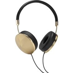 Frends Gold Black Taylor Headphones ($280) ❤ liked on Polyvore